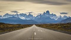 On the way to Fitz Roy (jeworob) Tags: sunset santacruz mountains argentina argentine clouds america landscape ar wolken glacier berge nuages paysage arg landschaft montagnes amérique elchaltén sonnenuntergangcoucherdesoleil continentsetpays fitzroy3405m cerrotorre3128m