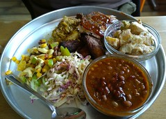 Barbecuey goodness (Ruth and Dave) Tags: food lunch restaurant salad meat pork barbecue potatosalad bakedbeans squamish coleslaw