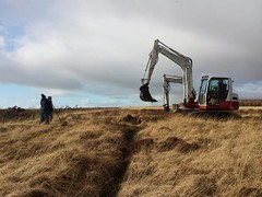 Shiel farm trench bunding - February 2016 (Coalfield Environment Initiative) Tags: conservation peat restoration habitat bog wetland mire enhancement moorland rewetting airdsmoss