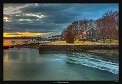 Home on the Water (Ilan Shacham) Tags: trees sunset usa house lake home water boston forest landscape flow bay us view dusk massachusetts fineart scenic peaceful tranquility rockport fineartphotography annisquam