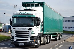 A.W. Jenkinson/ WS Transportation PX65 JOH at Appleton 26/2/16 (CraigPatrick24) Tags: road truck cab transport lorry delivery vehicle trailer scania logistics appleton ws stobart awjenkinson chipliner curtainsider scaniar450 wstransportation curtainsidedchipliner px65joh