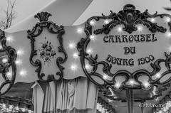 carrousel monochrome (max pincet) Tags: monochrome nikon noir lumire du 1900 nikkor et mange blanc puy fou caroussel cadrage 18105mm d7000