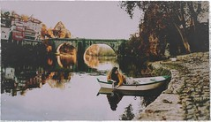 the city by the river (Ana Lusa Pinto [Luminous Photography]) Tags: bridge selfportrait texture water yellow self vintage river boat medieval frame tmega evs brenizer sve amarante luminousphotography luminouslu analusapinto analuisapinto