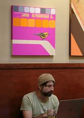 Who's Watching Over You (Gwen Deanne) Tags: california santa art coffee canon tea stranger cruz 6d lulusattheoctagon