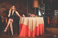 Diana (rubenfcid) Tags: woman hot sexy girl beautiful beauty tattoo lady restaurant glamour pretty legs diningroom heels elegant legtattoo nightdress coctel darkskin