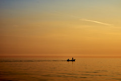 Fishing in the sunset (georg19621) Tags: summer people holiday water season landscape events misc sunsetsunrise kroatien umag