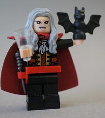 Dracula (SHAPEWAYS BLACKOGRAPHIC) Tags: lego psx dracula custom playstation minifigure castlevania sotn