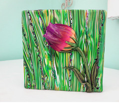 Tulip Flower Challenge pcagoe http://playsculptlive.blogspot.ca/2016/03/its-flower-power.html (playsculptlive) Tags: flower polymerclay tulip pcagoe playsculptlive