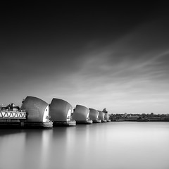 Thames Barrier (Fern Blacker) Tags: uk longexposure travel england sky london water architecture flood unitedkingdom capital finest thamesbarrier ndfilter leifilters