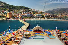 'Parked Up' in Alanya (sminky_pinky100 (In and Out)) Tags: travel cruise sea vacation holiday tourism pool turkey landscape outdoors mediterranean jetty scenic deck docked alanya cruiseboat sunloungers omot yower thomsonspirit