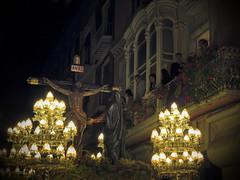 good friday - cartagena, 2016 (maximorgana) Tags: wood people plant flower art lamp christ balcony jesus nouveau cartagena throne crucifixion jesuschrist goodfriday maceta
