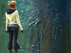 Learning History (swong95765) Tags: art monument wall female awesome learning awe engaged interest