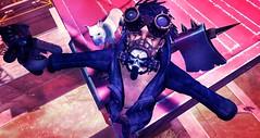Waste your days with thinking (Jinx Ulrik) Tags: mask goggles hound pitbull sl secondlife teddybear axe gasmask dreads jinx foxes dystopia flit deadwool jinxshipman urbanfallout