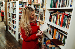 Bookstore (Maksim Million) Tags: red london girl books ricoh