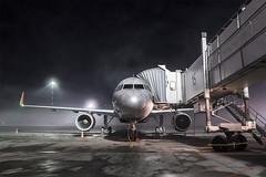 Night Stranger (Oleg Botov) Tags: sky fog night plane airport aircraft aviation terminal apron airbus su spotting afl airliners a320 avia aeroflot   planespotting   sheremetyevo  avgeek   planeporn crewlife slavniyoleg