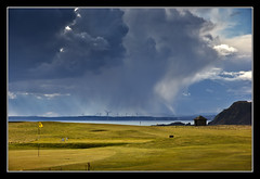 Leven's Getting Wet (K-Burn) Tags: clouds fife cliffs golfcourse elie eastneuk kincraighill