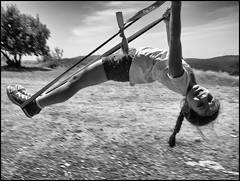Outdoor Swing 114/366 (urini) Tags: blackandwhite monochrome outdoors lumix ella swing 365 gx8 365project