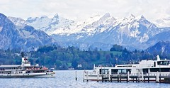 Picturesque lake Lucerne (somabiswas) Tags: lake alps ferry switzerland lakes luzern lac lucerne