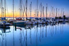 Hastings Sunrise (Thunder1203) Tags: sea sunrise canon reflections colours harbour au australia victoria coastal hastings hdr westernportbay canoneos5dmarkiii sunrisehastingsmarinathunder1203
