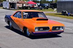 Super/Comp Barracuda (Thumpr455) Tags: auto orange sc car race georgia nikon automobile commerce plymouth april 1968 autoracing mopar barracuda dragracing 2016 nmra nmca supercomp atlantadragway d5500 afnikkor1855mmf3556vr