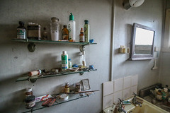 Medication Shelf (Voodoooz) Tags: camera old city trip travel urban baby sun hot color building sexy abandoned love water architecture hospital photography photo nice cabin outdoor decay urbandecay tripod extreme australian australia indoor eerie babe brisbane tourist adventure flashback explore infiltration qld queensland aussie urbex tourer urbanlight ubrex