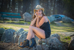 Jaclyn (jlucierphoto) Tags: woman sexy girl beautiful hat boots outdoor country lovelyflickr