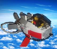 Pulga voadora. (brunofrutuoso20) Tags: flying lego scifi moc legospace