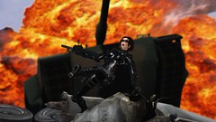 JUUUUUUUUUMP!!! (alexandriabrangwin) Tags: world life black truck computer for 3d jump jumping graphics shiny gun tank shot boots action awesome flames explosion over gear scene rubber climbing glossy panic secondlife virtual armor latex abrams tread thick rolling fireball ops catsuit cgi p90 ruined silenced firey oakleys silencer m1a1 submachine alexandriabrangwin