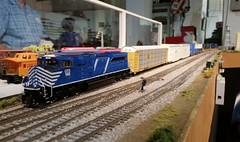 CITX 140 with FEC 121 (brickbuilder711) Tags: railroad scale model power florida miami group trains ho foreign lease csx cit emd fec citx sd70m2 goldcoastrailroadmuseum gcrm