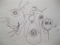 Ways To Deter (giveawayboy) Tags: man eye art birds pen tampa sketch artist drawing balloon inflatable scarecrows ballpoint fch giveawayboy billrogers birdscarers birddeterrents predatoreyes birdscaringdevices