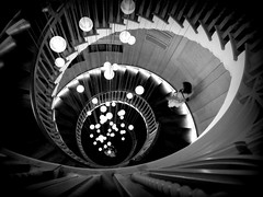 Fantasy descent (joephoto uk) Tags: stairs spiral lights steps staircase heals