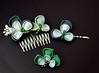 clover bobbypin set 02 (1) (Bright Wish Kanzashi) Tags: handmade silk hairornament kimonosilk tsumamikanzashi japanesetechnique tsumamizaiku