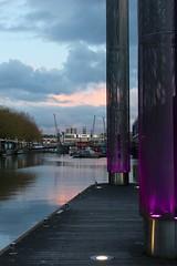 Bristol Harbourside (Samantha Tyson) Tags: park bridge green water grass bristol boat ship suspension walk hill brandon harbourside