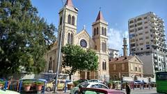 Latakia (nesreensahi) Tags: street trees cars church nature landscape syria siria  syrie latakia