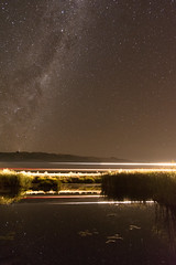 Photo bombed by a train (lizcaldwell72) Tags: newzealand sky water train hawkesbay milkyway