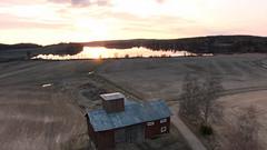 Alasenlahti (m \ stenvik) Tags: sunset lake field barn suomi finland landscapes countryside nokia spring alasenlahti