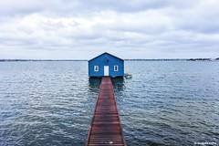 Blue Boat House at Swan River (Sougata2013) Tags: blue colors river australia perth boathouse westernaustralia swanriver nikond7200