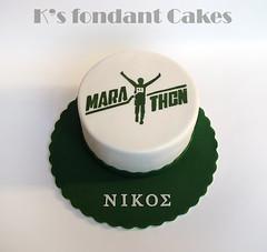 Marathon Runner Cake ~   (K's fondant Cakes) Tags: green cake marathon runner fondant