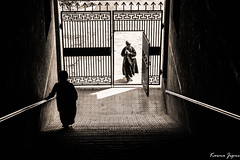 In and out (karmajigme) Tags: travel shadow blackandwhite white black monochrome lights nikon noiretblanc streetphotography