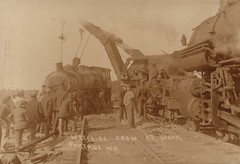 Railroad Wrecking Crew at Work, Portage