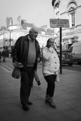 Father & Daughter (Alexander Jones - Documentary Photography) Tags: street england white black west monochrome photography nikon bath candid south north documentary somerset east moment decisive d3000