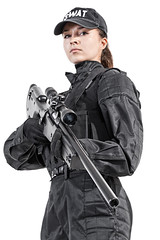 Female police officer (zabielin) Tags: woman infantry female studio soldier army us war uniform gun ranger force counter mask military rifle police assault special american cop sniper pistol terror terrorism law enforcement vest anti spec tactics officer operator swat gi weapons nato forces ops policeman commando task firearms armed specialforces warfare tactical antiterrorism antiterror specops