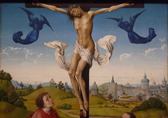 Van der Weyden, Crucifixion Triptych, detail with Christ