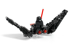 LEGO Kylo Ren's Shuttle Micro Fighter (S3ISOR) Tags: star miniature stand mod fighter ship force lego space 7 mini micro shuttle ren wars custom episode vii minifigure moc tfa awakens minifigures 75104 laserlab kylo laserlabs