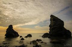 Mar, cielo y rocas (J Fuentes) Tags: sea cloud naturaleza sol beach andaluca rocks long exposure flickr playa save molino cielo papel malaga rocas nerja larga maro exposicin cerrogordo sunrire alberquilla