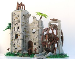 TT;R3: Isla Cruces (W. Navarre) Tags: castle water wheel lego pirate link tourney moc