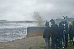 1-22-16 King Tide, El Granada, CA (Biking Nikon SFO) Tags: california rain fog waves pacificocean sanmateocounty elgranada kingtide coastalerosion nikond200 1735mmnikkor