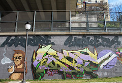 Hardcore Smokers (Sart One) Tags: city bridge wild sky urban panorama orange brown white streetart green art colors yellow writing painting landscape grey one graffiti monkey weed mural paint purple tsf puppet character smoke letters style can spray pot primo spliff future halloffame arrow lettering lime graff piece aerosol futuristic aerosolart hs masterpiece spraycanart spraycan catanzaro wildstyle matz purplehaze fase handstyle sart hardstyle ironlak muralism greybackground agraria stylewriting graffitiwriting primobrown aeroes aeroescrew sartgraffiti thesubwayfamily sartone letterscience mmxvi hardcoresmokers
