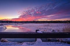 A Bridge Too Far (gregmolyneux) Tags: sunset ice weather landscape frozen marsh hdr cedarrundockroad blizzardof2016 winterstormjonas