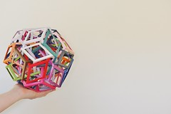 Fifteen Interlocking Wrinkled Rhombic Prisms (Byriah Loper) (Byriah Loper) Tags: abstract paper compound origami prism complex polygon paperfolding polyhedron origamimodular modularorigami rhombic stardream triacontahedron byriah byriahloper